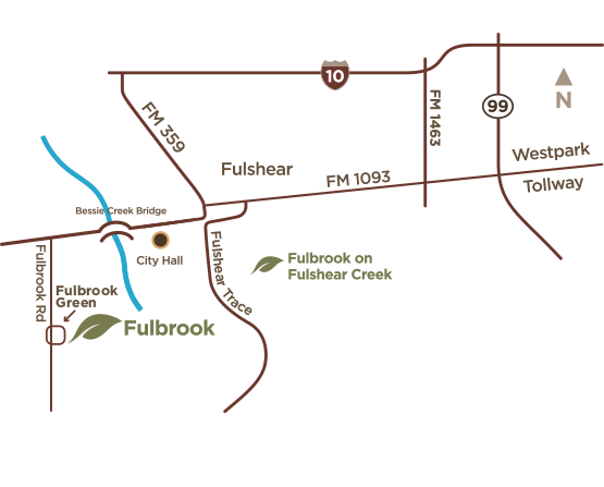 Fulbrook access Google map