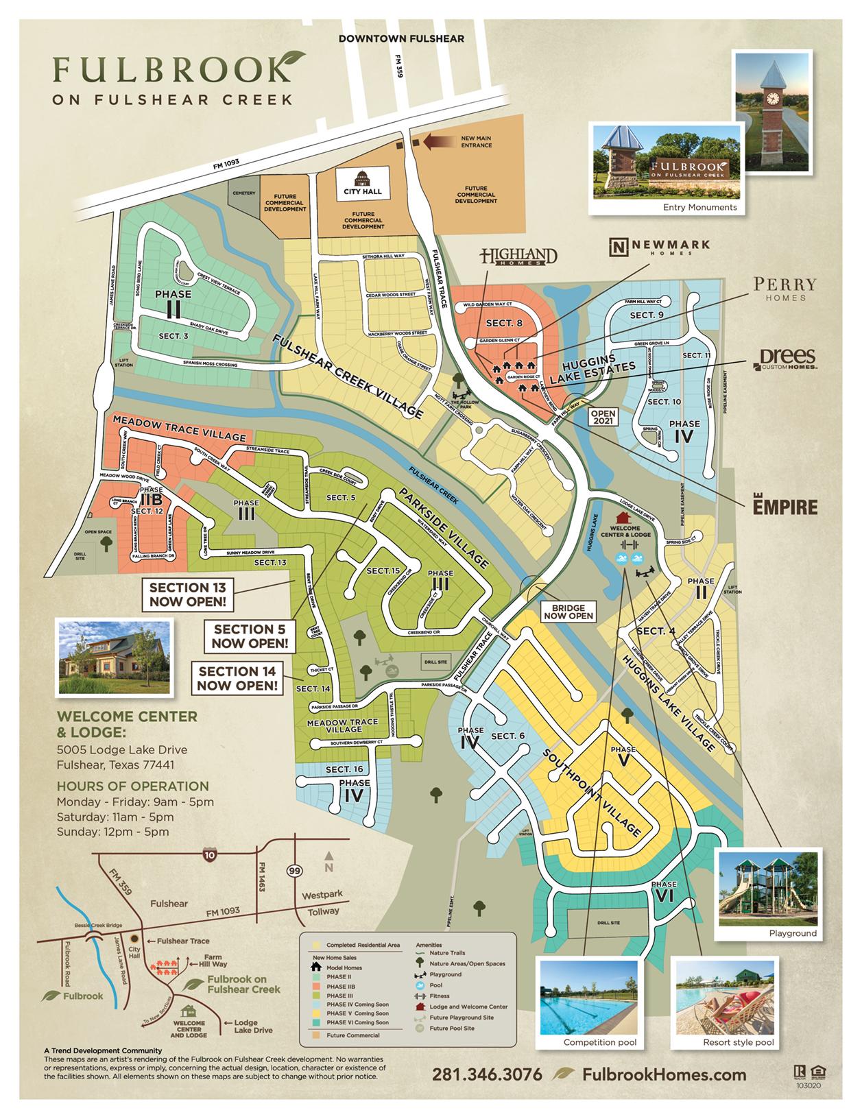 Fulbrook on Fulshear Creek Site Map